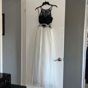 Formal dress black and white